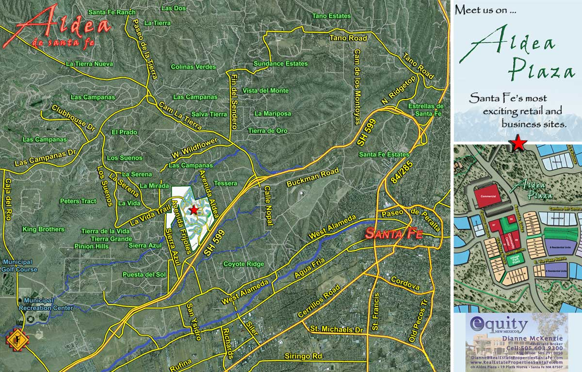 Maps Of The Area  Real Estate Properties Santa Fe