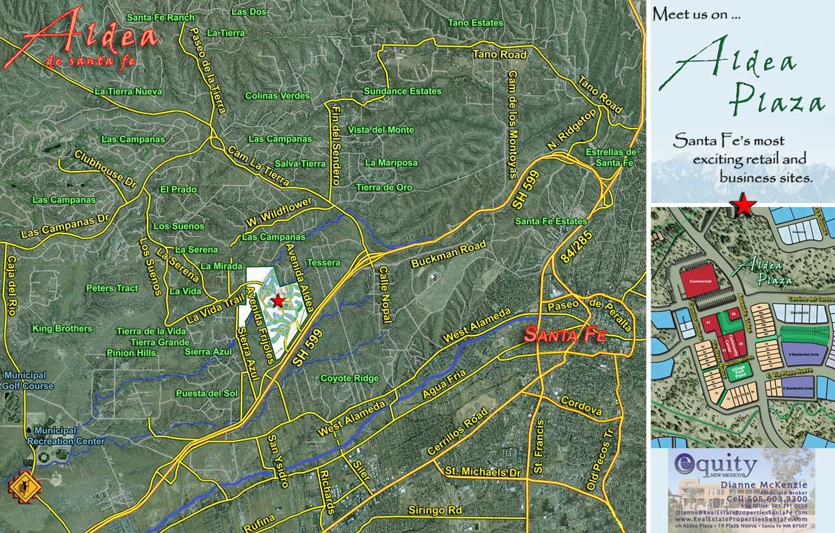 Surrounding Aldea Map