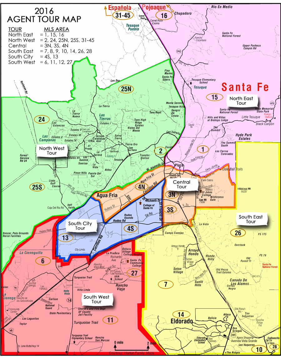 Santa Fe MLS Zoning Maps Real Estate Properties Santa Fe – Santa Fe Tourist Map