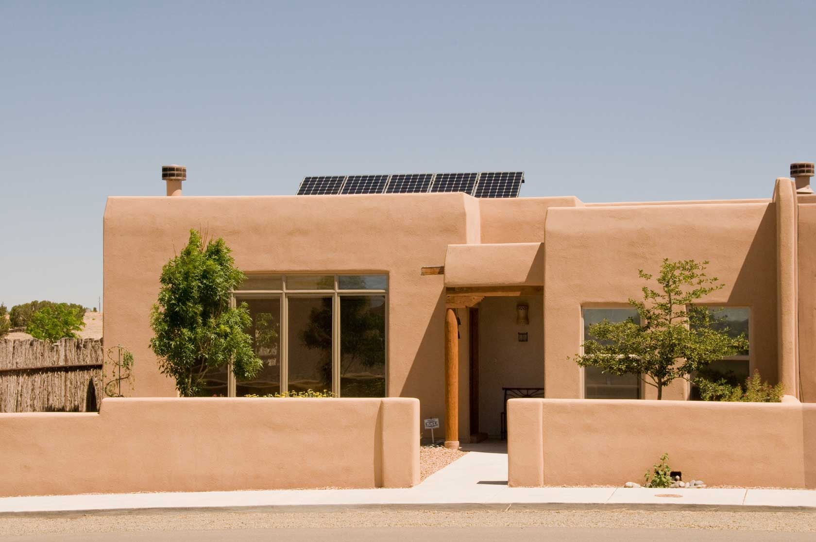 The sun is a selling point real estate properties santa for Santa fe home design