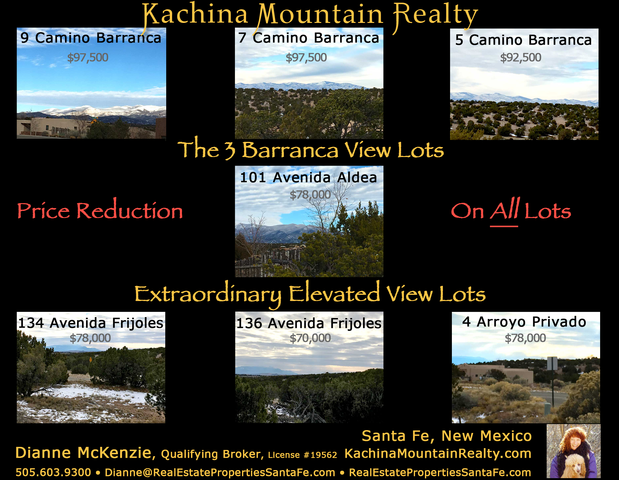 7 view lots for sale in santa fe