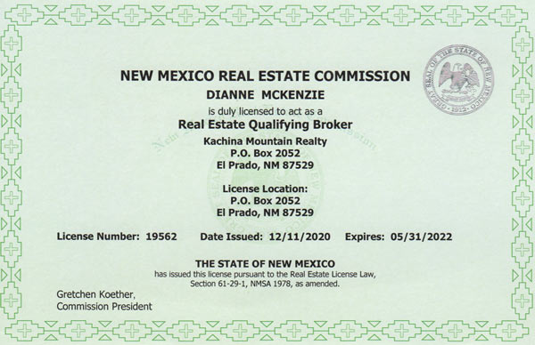 New Mexico Real Estate License #19562